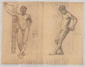 Theodore Clement Steele - study of male nude 2