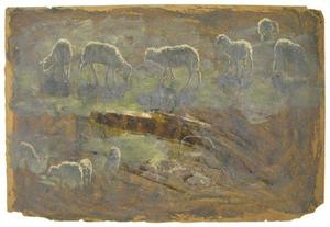 Theodore Clement Steele - Study of sheep