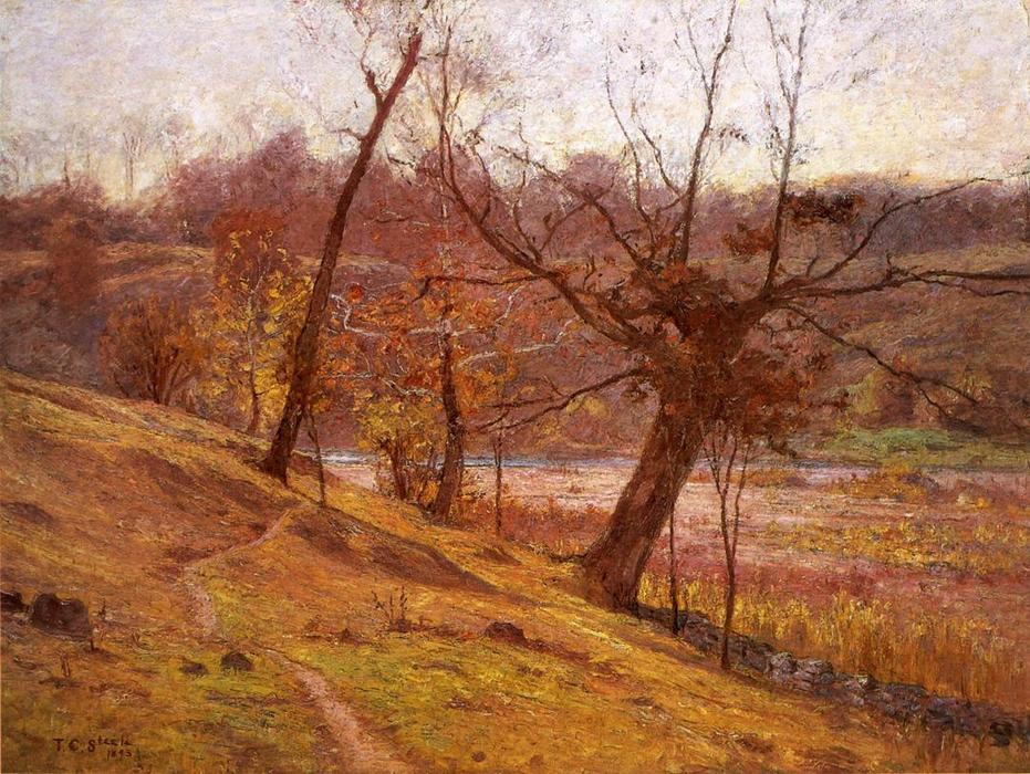 The Bloom of the Grape by Theodore Clement Steele (1847-1926, United States) | Museum Art Reproductions Theodore Clement Steele | WahooArt.com