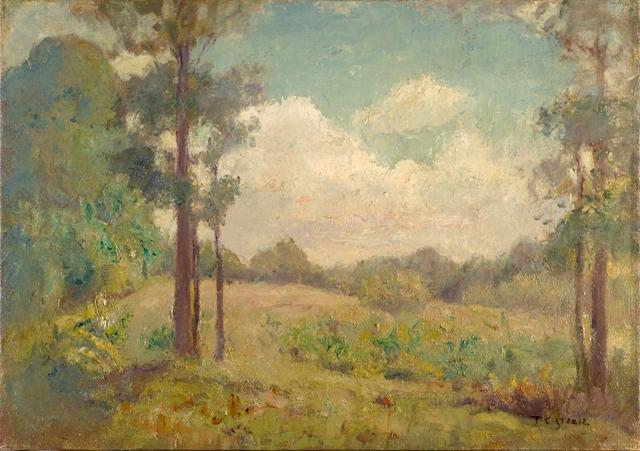The Clearing Under Summer Skies by Theodore Clement Steele (1847-1926, United States) | Painting Copy | WahooArt.com