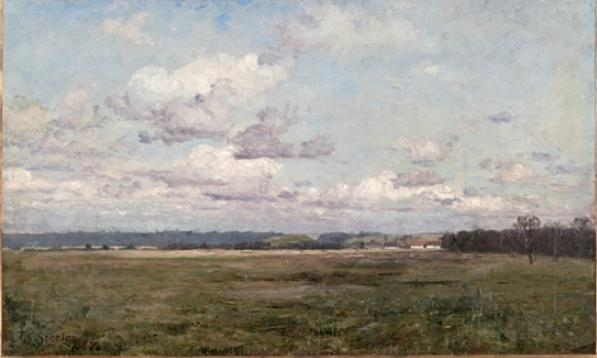 The Clouds (Cloud Study) by Theodore Clement Steele (1847-1926, United States) | Oil Painting | WahooArt.com