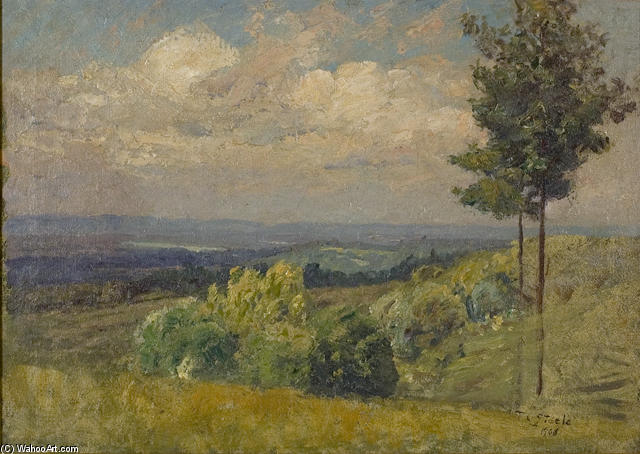 The Distant Hill from a Sunny Knoll by Theodore Clement Steele (1847-1926, United States) | Museum Quality Reproductions | WahooArt.com