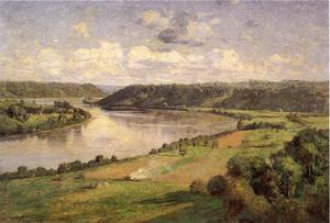 Theodore Clement Steele - The Ohio river from the College Campus, Hanover