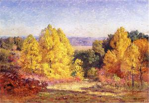 Order Paintings Reproductions | The Poplars, 1914 by Theodore Clement Steele (1847-1926, United States) | WahooArt.com