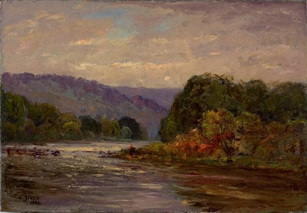 The Rapids by Theodore Clement Steele (1847-1926, United States) | Painting Copy | WahooArt.com