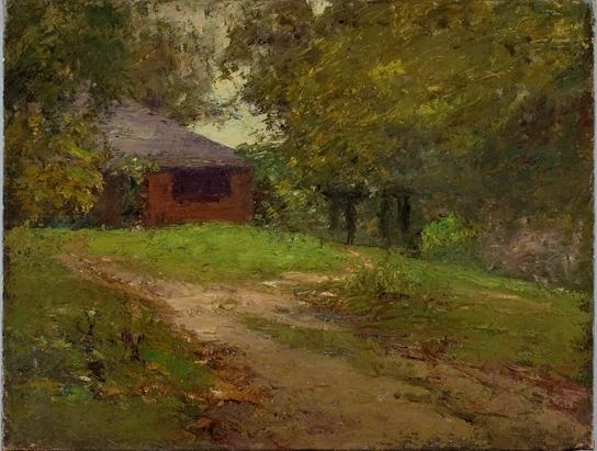 The Steele Home by Theodore Clement Steele (1847-1926, United States) | Museum Art Reproductions Theodore Clement Steele | WahooArt.com