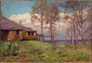 Theodore Clement Steele - The Steele Residence-Clouds, The Home