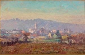 Theodore Clement Steele - The Tower in the Village