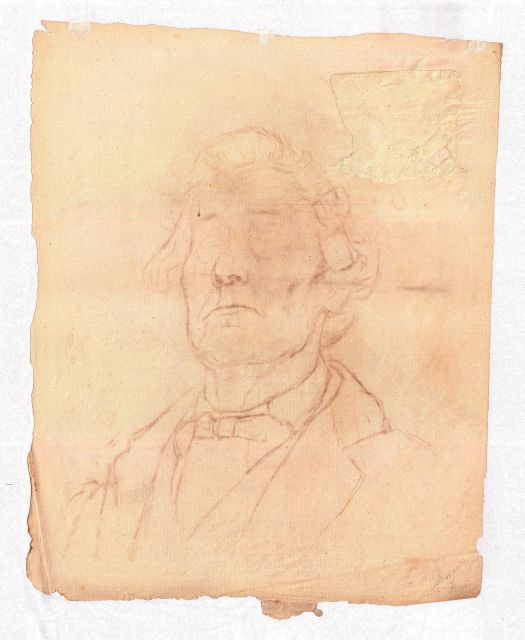Unfinished male portrait by Theodore Clement Steele (1847-1926, United States) | Museum Art Reproductions Theodore Clement Steele | WahooArt.com