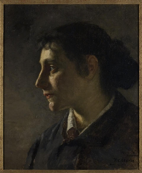 Order Paintings Reproductions | Unknown Munich Woman by Theodore Clement Steele (1847-1926, United States) | WahooArt.com