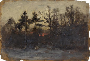 Order Reproductions | Untitled landscape 2 by Theodore Clement Steele (1847-1926, United States) | WahooArt.com
