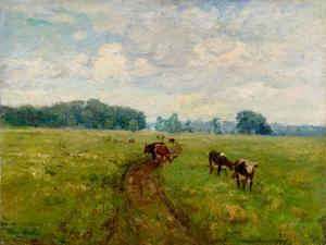 Theodore Clement Steele - White-Faced Cows in Pasture