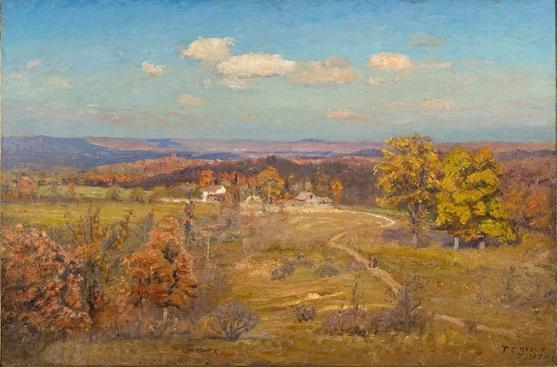 Winding Road by Theodore Clement Steele (1847-1926, United States) | Museum Quality Copies Theodore Clement Steele | WahooArt.com