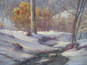 Theodore Clement Steele - Winter Morning in the Ravine 1