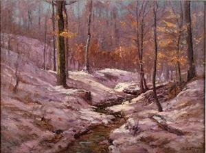 Theodore Clement Steele - Winter Morning in the Ravine