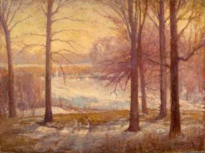 Theodore Clement Steele - Winter Scene
