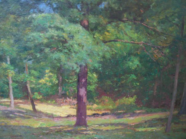 Woodland Scene (Forest Interior) by Theodore Clement Steele (1847-1926, United States) | Museum Quality Reproductions | WahooArt.com