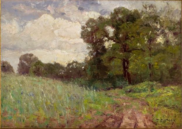 Woods and Sky (cloud study) by Theodore Clement Steele (1847-1926, United States) | Museum Quality Reproductions | WahooArt.com