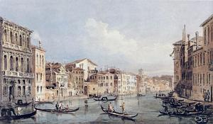 Thomas Girtin - Grand Canal, Venice (after Canaletto)