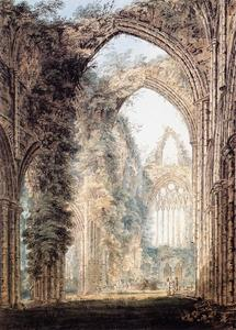 Thomas Girtin - Interior of Tintern Abbey looking toward the West Window