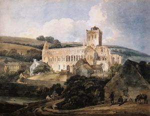 Thomas Girtin - Jedburgh Abbey from the South­East