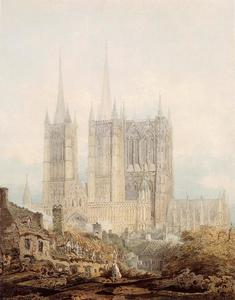 Thomas Girtin - Lincoln Cathedral from the West
