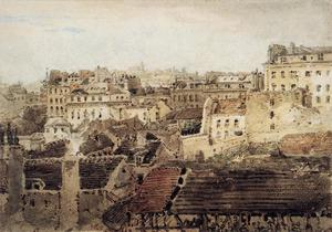 Thomas Girtin - Paris. View of Roofs looking toward Montmartre