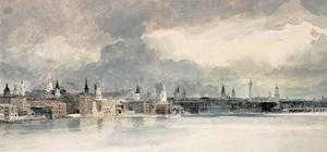 Thomas Girtin - Study for the Eidometropolis. the Thames from Queenhithe to London Bridge