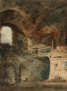 Thomas Girtin - The Ruins of the Emperor Julian's Baths, Hôtel de Cluny, Paris