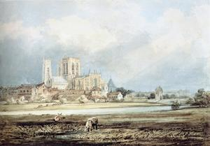 Thomas Girtin - York Minster from the South­East, with Layerthorpe Bridge
