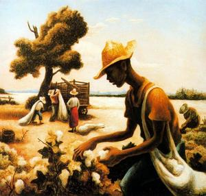 Thomas Hart Benton - The Cotton Picker