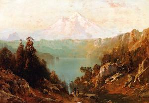 Thomas Hill - Mount Shasta from Castle Lake at Evening