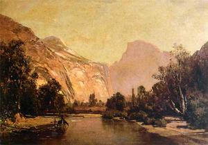 Thomas Hill - Piute Indians, Royal Arches and Domes, Yosemite Valley
