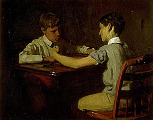Thomas Pollock Anshutz - Checker Players