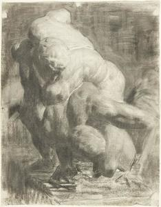 Thomas Pollock Anshutz - Two Male Figures Wrestling