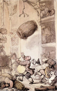 Thomas Rowlandson - A Fall In Beer
