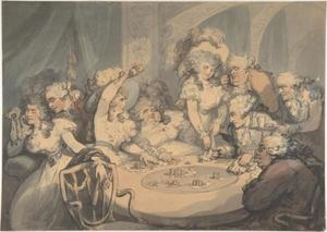 Thomas Rowlandson - A Gaming Table at Devonshire House