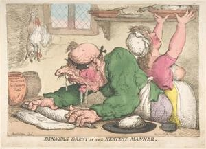 Thomas Rowlandson - Dinners Drest in the Neatest Manner