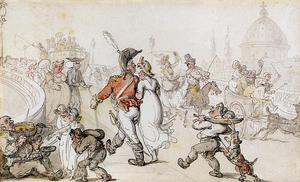 Thomas Rowlandson - Elegant Company On Blackfriars Bridge