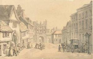 Thomas Rowlandson - High street in a country town