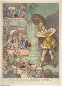 Thomas Rowlandson - John Bull at the Italian Opera