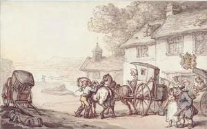 Thomas Rowlandson - Journeying from a coastal inn
