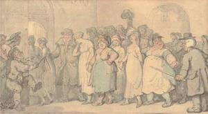 Thomas Rowlandson - Procession from Bow Street to Bridewell