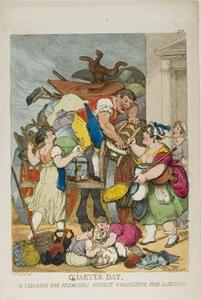 Thomas Rowlandson - Quarter Day, or Clearing the Premises without Consulting Your Landlord
