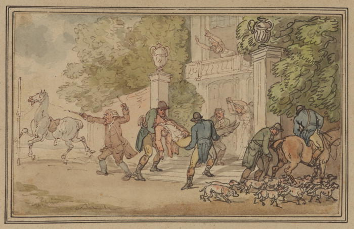 Return from the hunt by Thomas Rowlandson (1756-1827, United Kingdom)