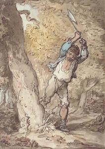Thomas Rowlandson - The Woodcutter