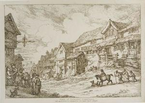 Thomas Rowlandson - View of Liskard, Cornwall
