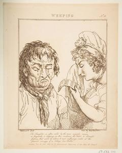 Thomas Rowlandson - Weeping, from Le Brun Travested
