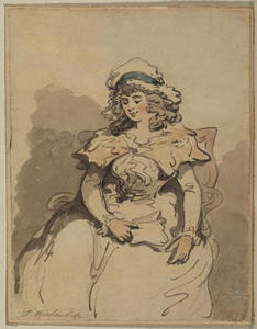 Thomas Rowlandson - Young lady, seated
