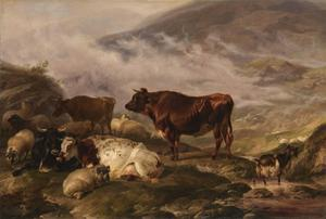 Thomas Sidney Cooper - Among the Cumberland Mountains - Mist Clearing Off